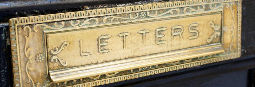 Plaque de boite aux lettres